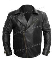 Chris Evans Captain America First Avenger Real Leather Military Biker Jacket 525