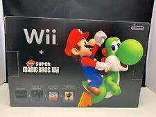 Nintendo Wii Holiday Bundle Black Console New Super Mario Bros Brand New BNIB