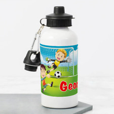 Personalised Football Soccer Pitch Boys 400ml Kids Childrens Water Drinks Bottle