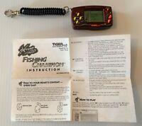 FISHING CHAMPION Super Rare Tiger Electronics Handheld Keychain LCD Video Game!