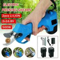 25mm Electric Pruning Shears Pruner Trimmer Cordless Tree Tool Scissors Nursery