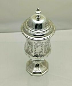 Antique Solid Silver Victorian Chalice & Cover 1844 391g 25cm 1 Pint 1814-9-ONSB