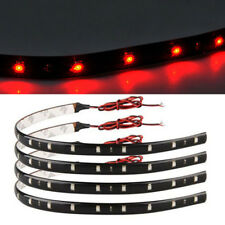 8pcs 15 SMD LED 30cm Car Auto Flexible Grill Light Lamp Strip Waterproof Red-12V