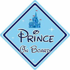 Disney Prince On Board Car Sign - Baby On Board - Disney Castle