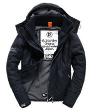 New Mens Superdry premium Quilted Hooded Polar Windcheater French Navy MEDIUM 1