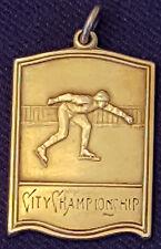 1930'S - ICE SKATING - CITY CHAMPIONSHIP -  SPORT - MEDAL - ORIGINAL