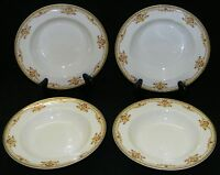 B & Co.  L. Bernardaud 4 Rimmed Soup Bowls - Decorated by Burley & Co. Chicago