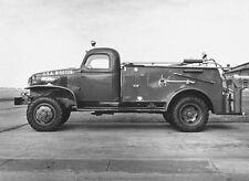WW2 Photo WWII US Army Fire Truck Fire Engine 1945  World War Two / 3128