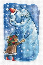 """Counted Cross Stitch Kit RTO - """"Girl and snow cat"""""""