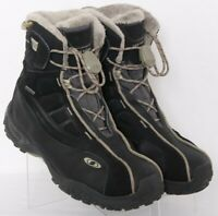Salomon 320731 Gore-Tex Thinsulate Black Lined Winter Boots Women's US 10