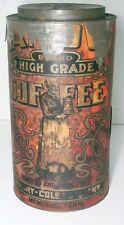 Antique Canova Coffee Can, Litho Print, Muray-Cole Co. Memphis, TN
