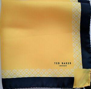 NWT Authentic TED BAKER London 100% SILK Pocket Square Pochette Handkerchief