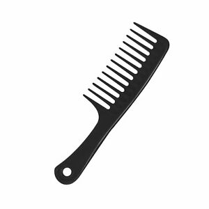 Large Wide Toothed Comb Curly Hair Hairdressing Tool Household Unisex (Black)