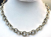 DAVID YURMAN New Sterling Silver Oval Link Chain with Cable Necklace 18.5""