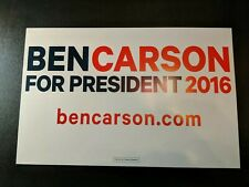 "Ben Carson Campaign Placard 2016 17""X11"""