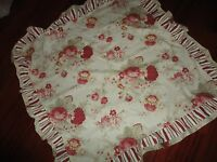 """WAVERLY NORFOLK ROSES RED GREEN FLORAL STRIPE SQUARE TOPPER TABLECLOTH COVER """""""