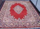 """Excellent Floral Antique 1920's Hand-Knotted Wool Oriental Rug 10'3"""" x 14'"""