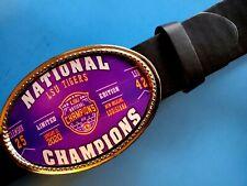 LSU TIGERS 2019 NCAA Champions Buckle & Black Bonded  Belt