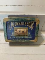 J. Plowman & Sons Tin Can Rectangular 6x4.5x2 New
