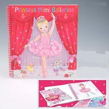 PRINCESS MIMI BALLERINA colorazione SPIRALE vincolati libri e gon na bustino ADESIVI