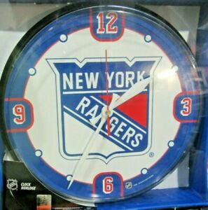 """New York Rangers Logo on 12"""" Round Wall Clock by WinCraft"""