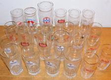 LOT verre BIERE ancre LUTTERBACH mutzig ARTOIS CERVEZA glass GLAS bierglas BIER