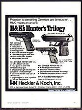1979 HECKLER & KOCH HK4, P9S 9mm & .45 Double Action Pistol AD