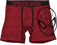 MARVEL COMICS SPIDERMAN FACE RED BOXER BRIEFS SIZE X- LARGE