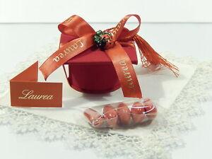 Bomboniera Laurea Tocco Porta confetti con coccinella e nappina biglietti