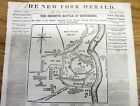 <1862 CIVIL WAR newspaper ULYSSES S GRANT CAPTURES FORT DONELSON Tennessee w MAP