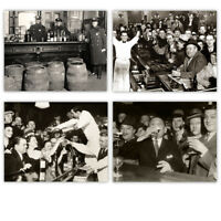 Prohibition Photo Art Set Prints - Set of Four Photos (11x14) Unframed - Decor