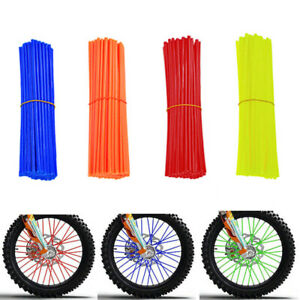 72Pcs Bike Wheel Spoke Wraps Covers For Cycling Bicycle Rim Guard Protector