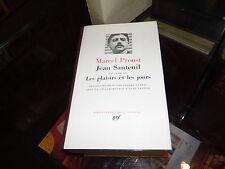 Jean Santeuil. Les plaisirs et les jours. Marcel Proust. Pléiade