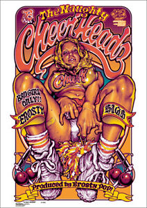 Rockin' Jelly Bean NAUGHTY CHEERHEADZ Silk Screen Print Poster RJB RARE JP