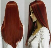 vogue long red mixed straight women's  Cosplay Wig