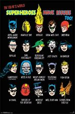DC Comics SuperHeroes Have Issues Poster Batman Superman Thor 22x34