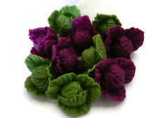 10 Loose Untrimmed / Purple Cabbage Vegebles Dollhouse Miniatures Grocers