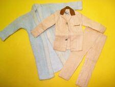 Vtg Barbie KEN 60s Doll Clothes Lot SLEEPER Set w ROBE 1961 781