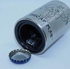 Decap Man Pop Top Decapper Beer Bottle Opener Stainless Steel New Blemish