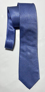"CHARLES TYRWHITT BLUE TIE 100% SILK GEOMETRIC 62""/3"" EXCELLENT CONDITION"