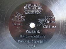 """78rpm E. BERLINER GRAMOPHONE 7"""" - FERRUCCIO CORRADETTI sings PAGLIACCI"""