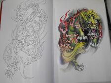 Diseños De Tatuajes Flash Libro Tamaño A3 Dragones Koi Y Aves Muy Bonito