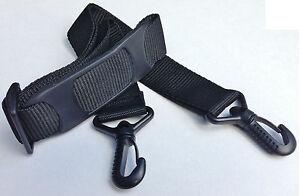 Replacement Shoulder Bag Strap Padded Black Length 84cm - 142cm Width 38mm New