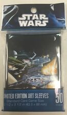 """STAR WARS  X-WING LIMITED EDITION ART SLEEVES (50) STANDARD SIZE 2.5"""" X 3.5"""