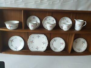 Vintage Shelley Lowestoft 11595 Tea Set 12 Pieces