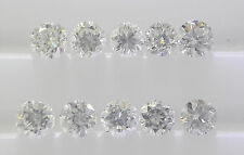 10pc 2.1mm 0.35cts Natural Loose Round Diamond Lot VS2-SI1 Clarity G-H Color