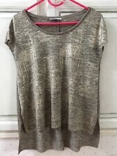 T-shirt Zara Long Chiné Doré Taille S