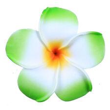 3 Pcs Women Hawaiian White Plumeria Flower Foam Hair Clip Balaclavas for Beach