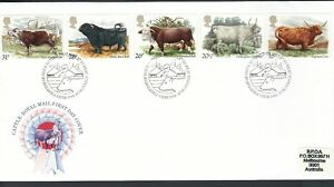 GB / UK FDC 1984 British Cattle set of 5 Fine used