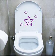 wall stickers adesivo wc stelline bambini sanitari locali bagno water toilette